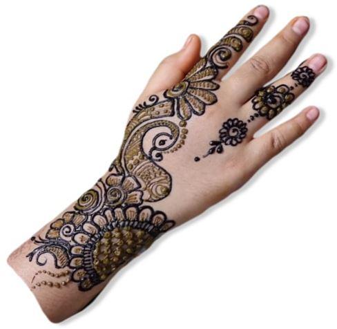 Index Finger Mehndi Designs