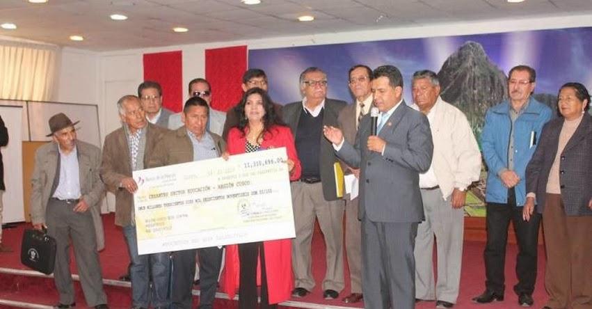 Iniciarán pago de deuda social para docentes en la región Cusco, informó el Gobierno Regional