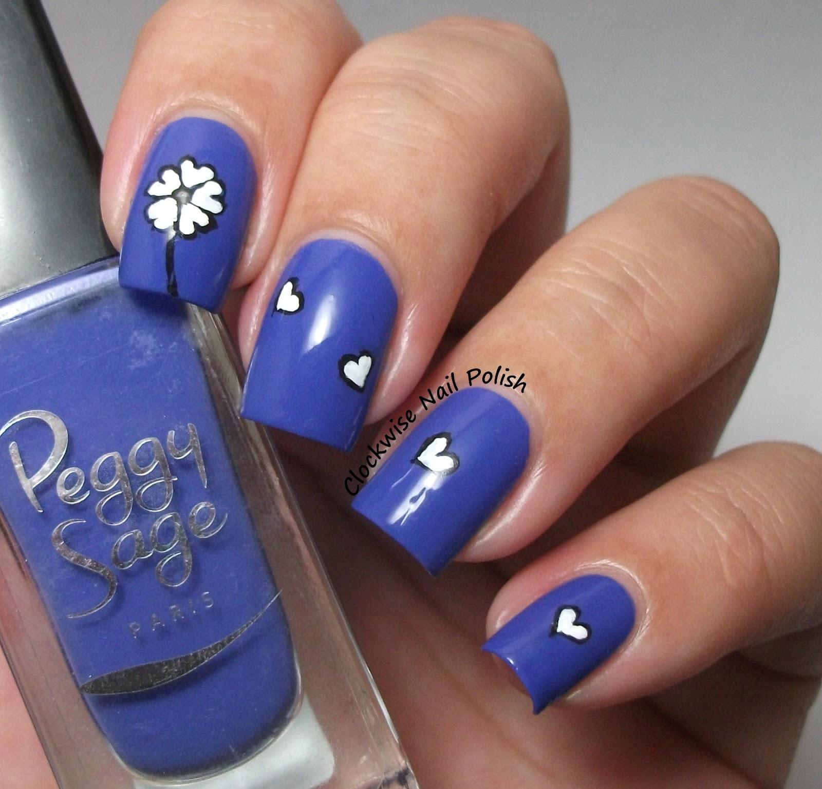 Nail Art Blue Floral: The Clockwise Nail Polish: Peggy Sage Blue Temptation