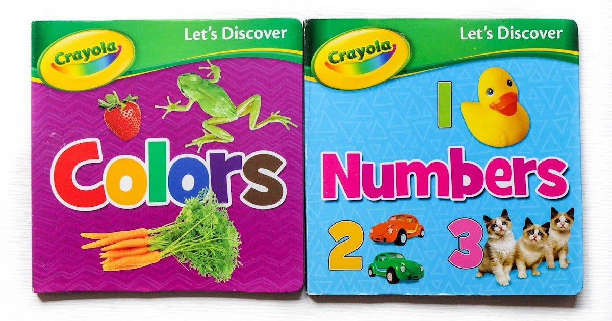 Let's Discover Crayola Education Board Books, Numbers and ...