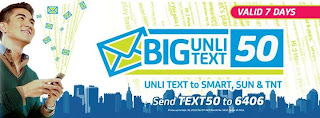 Smart BIG UNLITEXT 50 promo