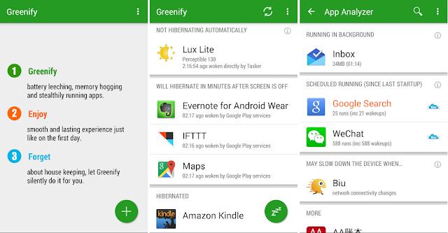 Greenify Aplikasi Penghemat RAM