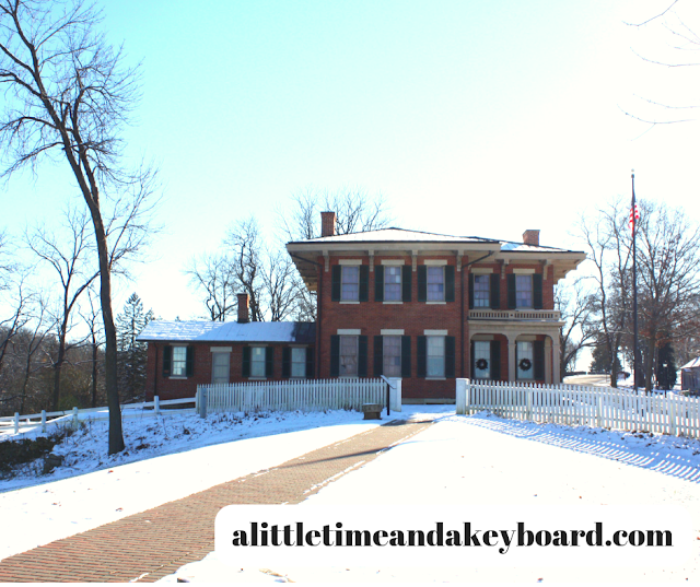 US Grant Home in snow in Galena, Illinois.
