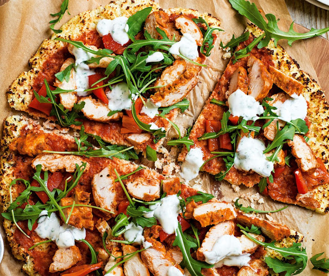 Spicy Chicken Cauliflower 'Pizza' Recipe