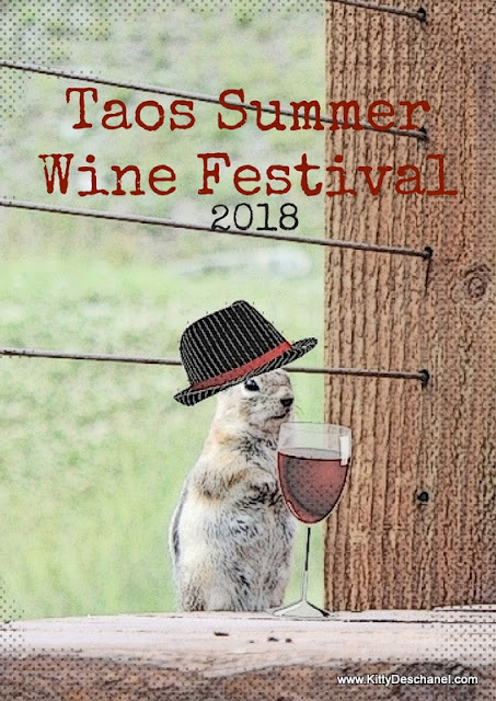 poster for the 2018 taos summer wine festival