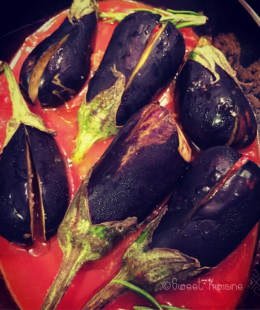 aubergines, sweet kwisine, eggplant, vegan , vegetarien, tomate, pois chiches, chickpeas