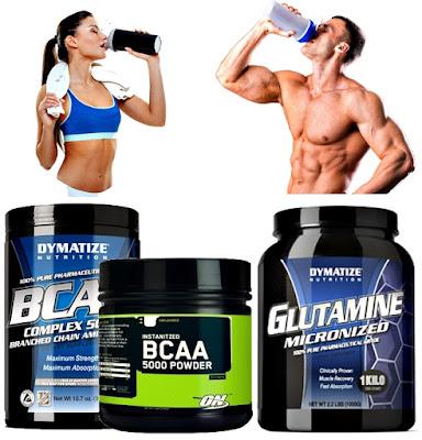 Glutamina bcaa suplementos pre entrenamiento
