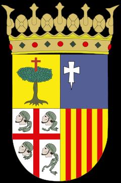 cuatro cabezas de moros, escudo, Aragón