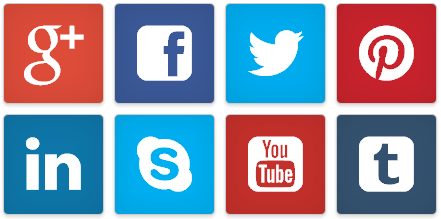 Image result for row of social media icons