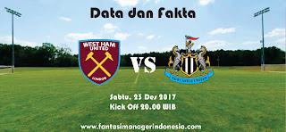 Data dan Fakta Fantasy Premier League West Ham United vs Newcastle United Fantasi Manager Indonesia
