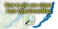 Get one object from OpenStreetMap. Скачать объект из базыданных OSM