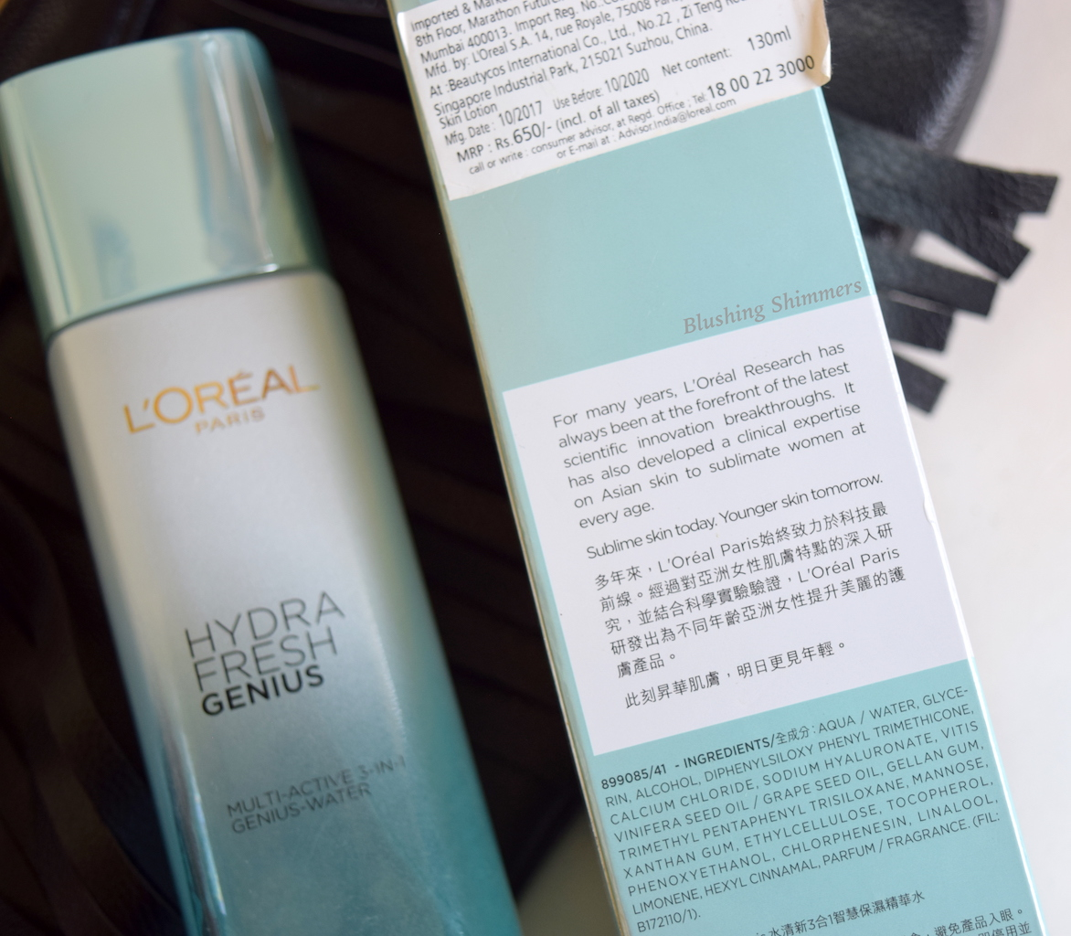 Loreal Hydra Fresh Genius Water