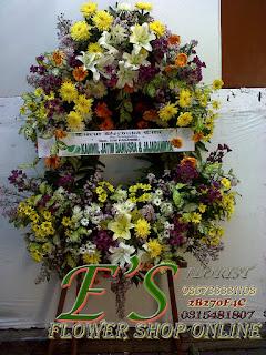 rangkaian bunga standing flower susun oval