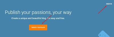 Halaman Depan Blogger - Cara Membuat Blog
