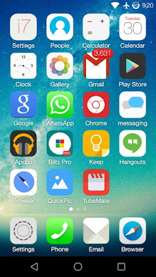 OS 9 launcher v35 Apk - Tema IOS 9 For Android Terbaru