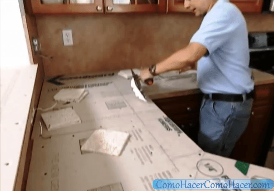 C mo hacer una cocina remodelaci n de la encimera web for Como hacer una cocina