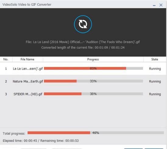 تحميل برنامج تحويل الفيديو الى صور متحركة GIF مجانا VideoSolo Free Video to GIF Converter 1.0.8