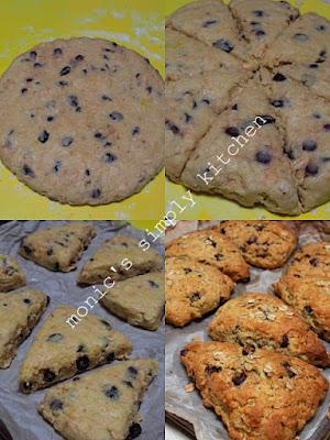 proses membuat scone kismis coklat