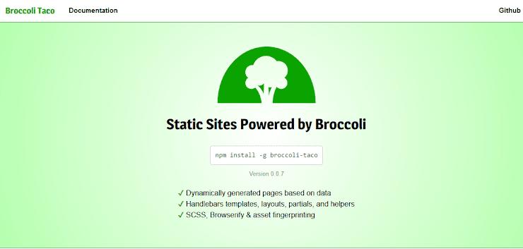 Broccoli Taco static site publishing service