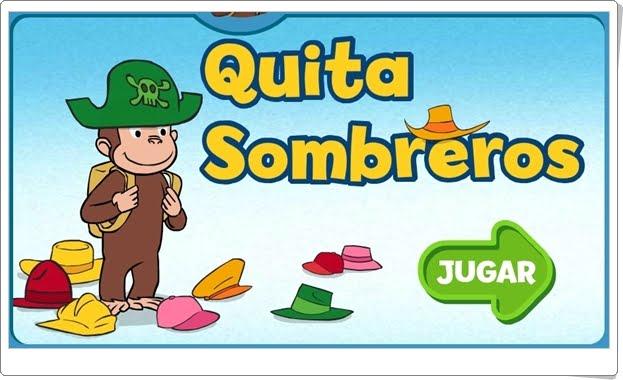 "Curious George: ""Quita sombreros"" (Juego de comparación de cantidades de Infantil)"