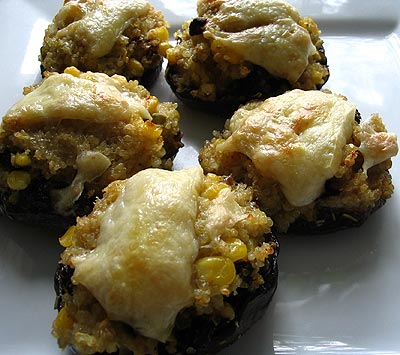 Portobello Mushrooms Stuffed with Quinoa