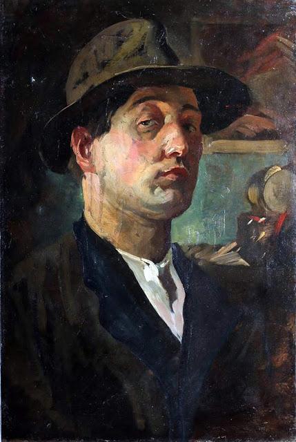 John Rathbone Harvey, Self Portrait, Portraits of Painters, John Rathbone, Fine arts,  Rathbone Harvey, Portraits of painters blog, Paintings of John Rathbone, Painter  John Rathbone