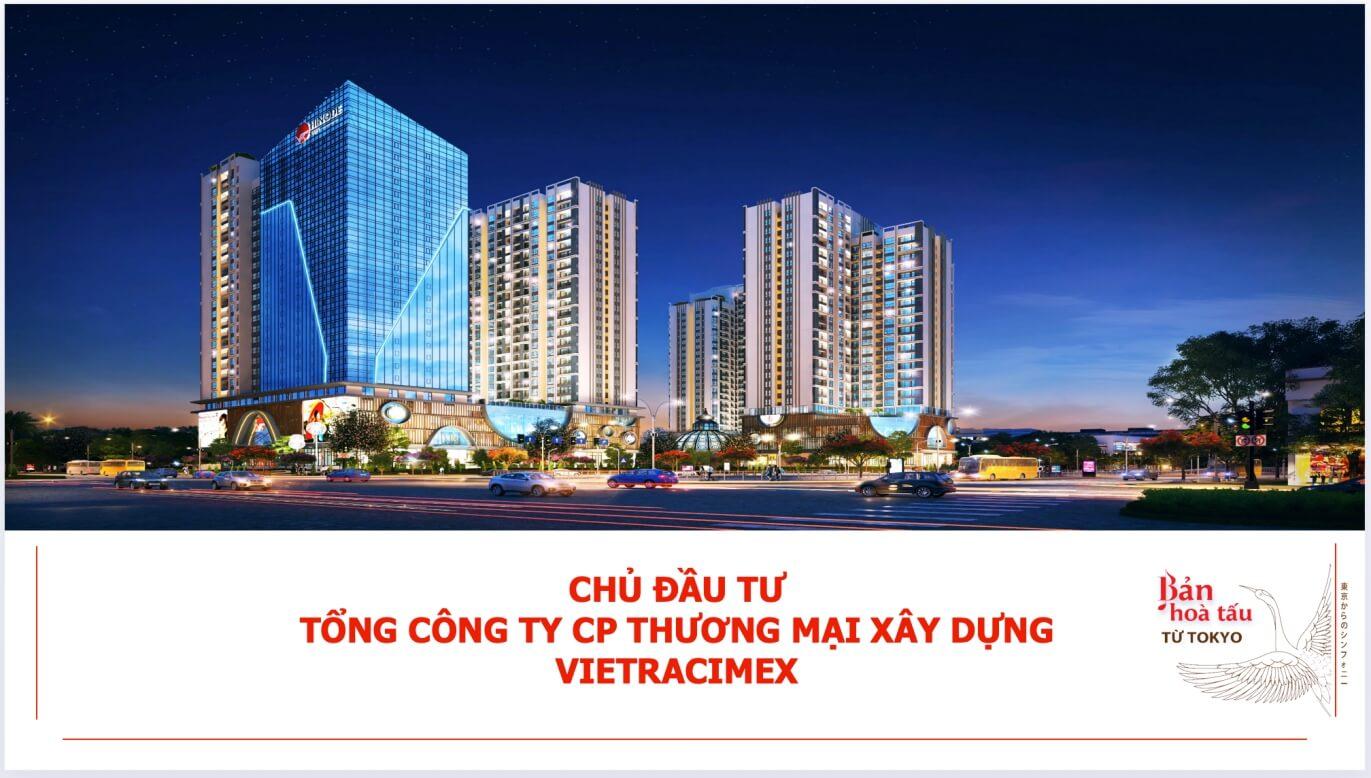 Vietracimex - Chủ đầu tư của khu căn hộ cao cấp Hinode City