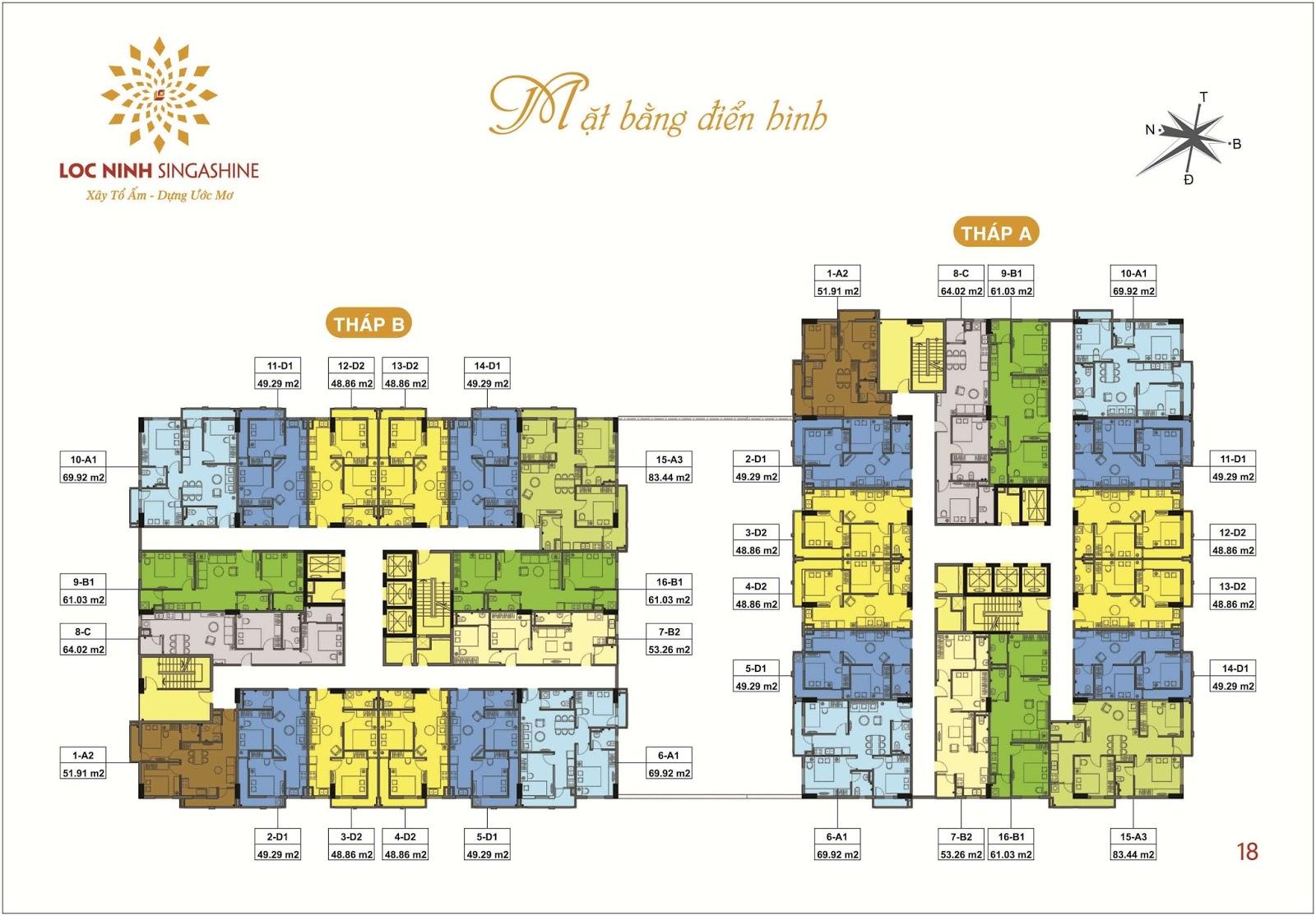 Thiết kế căn hộ Lộc Ninh Singashine.