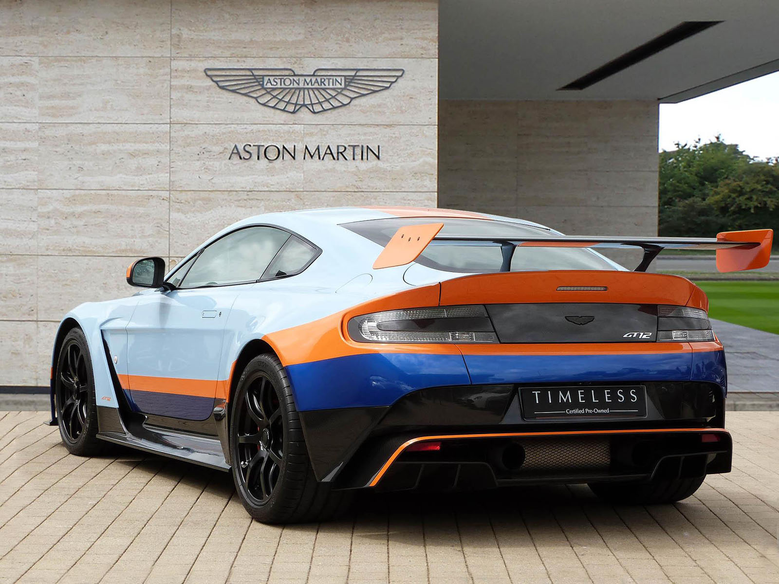 this uk dealer has two aston martin vantage gt12 39 s for sale. Black Bedroom Furniture Sets. Home Design Ideas