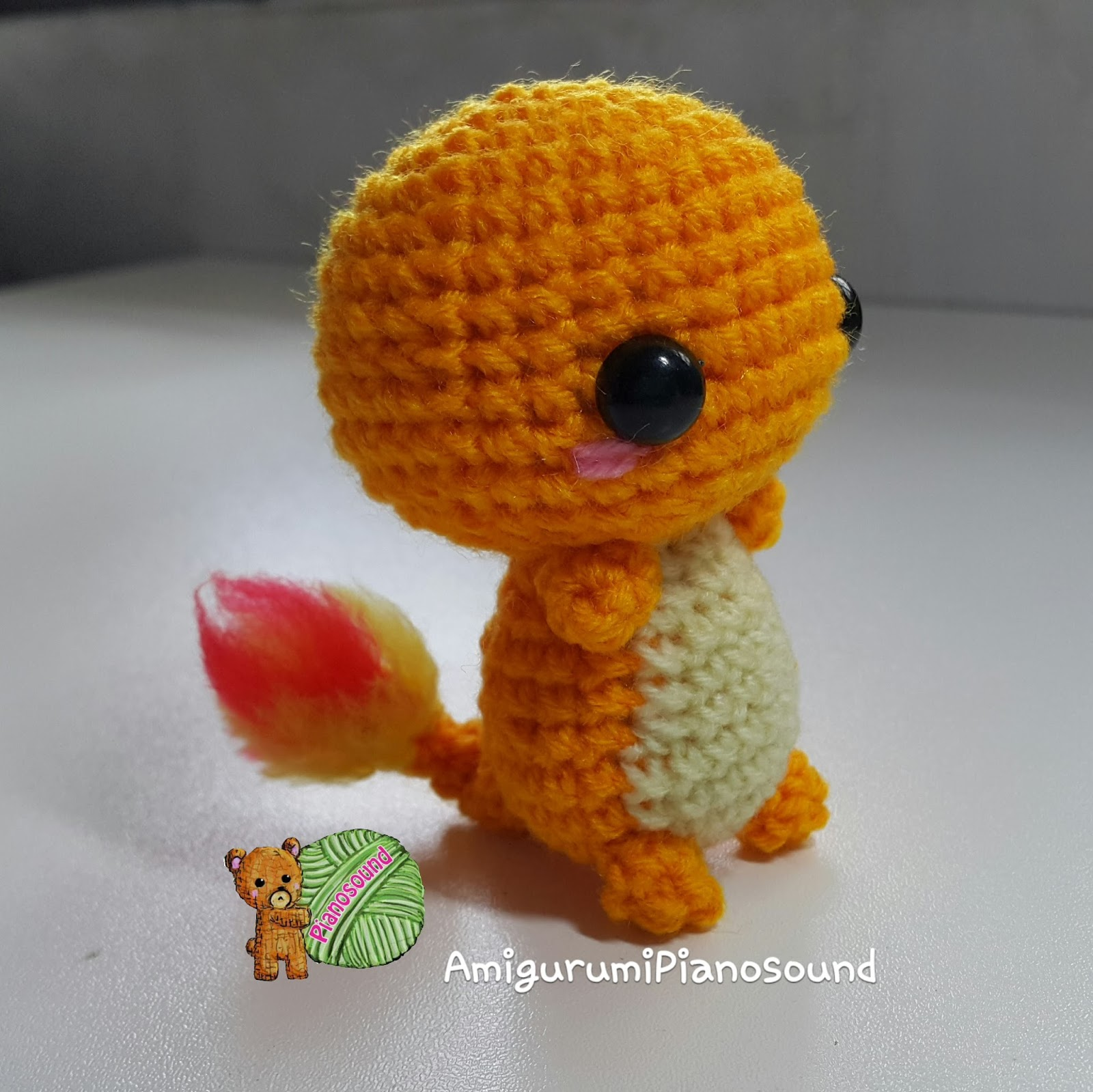 Crochet Pokemon : Charmander - Hitokage Pokemon Free Amigurumi Crochet Pattern