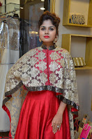 Anya South Actress model in Red Anarkali Dress at Splurge   Divalicious curtain raiser ~ Exclusive Celebrities Galleries 008.JPG