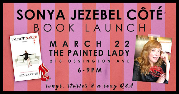 Sonya Côté book launch @ Painted Lady, Thursday
