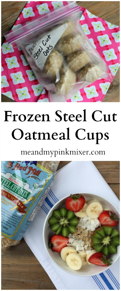 Frozen Steel Cut Oatmeal Cups