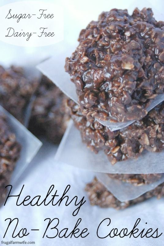 These healthy no-bake cookies are to die for! You'll never miss all the sugar you normally find in no-bakes! These healthy cookies are easy to make, and come together quickly for a spur-of-the-moment snack.