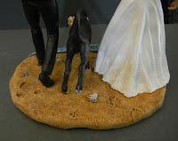 topper cake artistici fatti a mano impronte sulla sabbia orme magiche