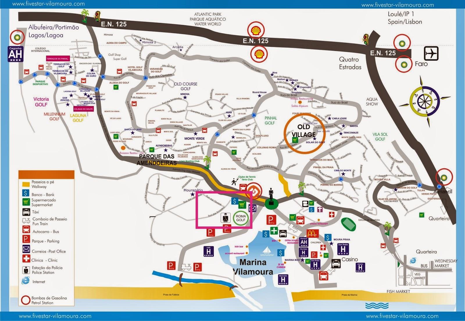 mapa de portugal quarteira Mapas de Vilamoura   Portugal | MapasBlog mapa de portugal quarteira