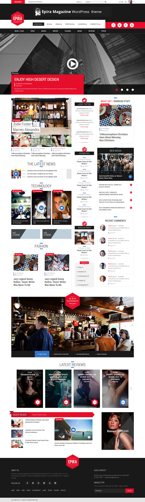 Best Responsive Magazine Template