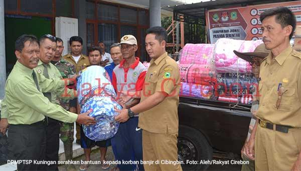 korban bencana alam di cibingbin dapat bantuan