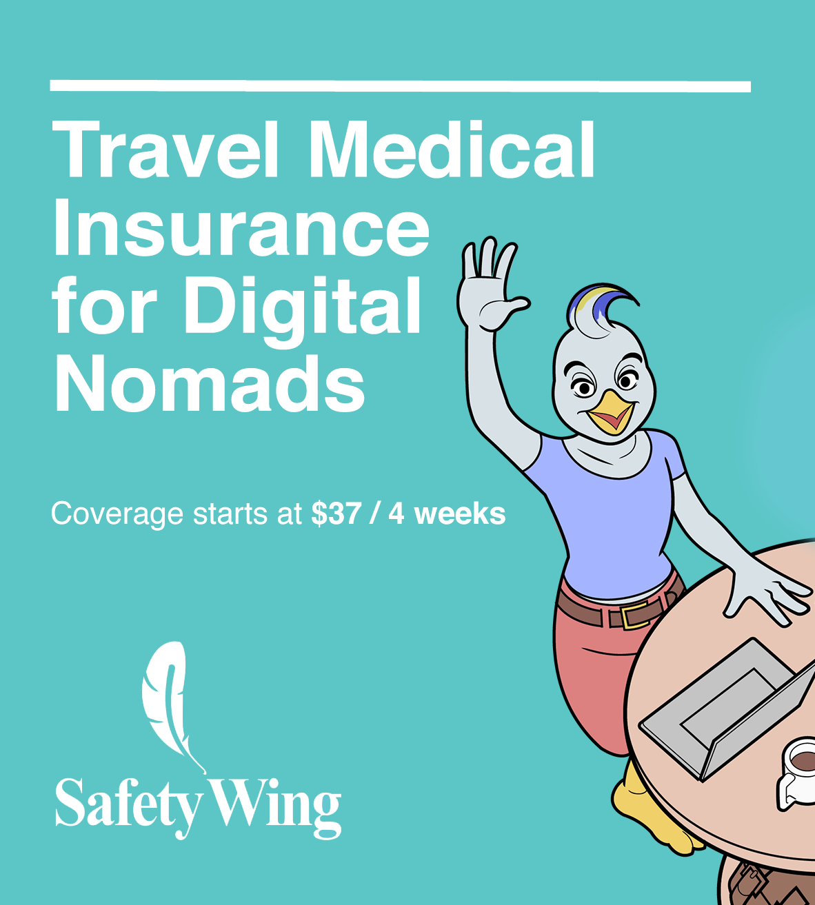 SafetyWing Travel Medical Insurance for Digital Nomads