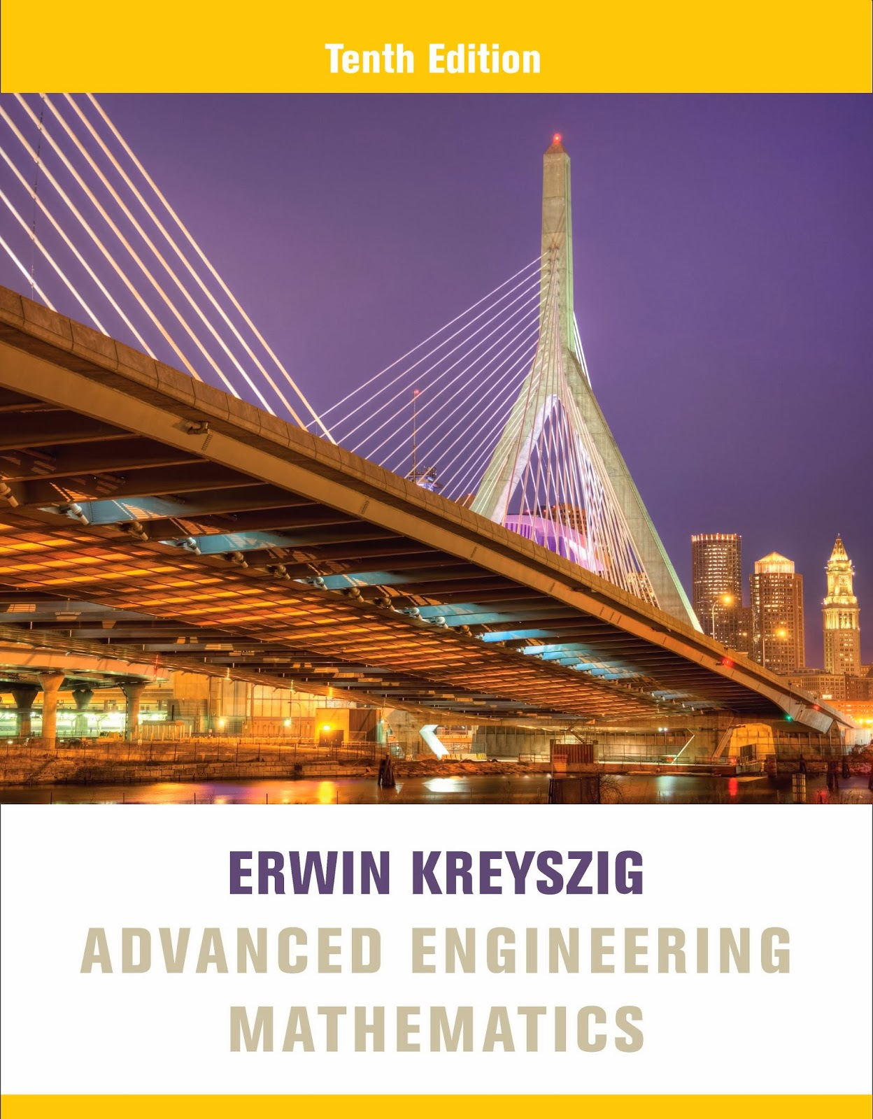 Book: Advanced Engineering Mathematics 10th Edition by Erwin Kreyszig