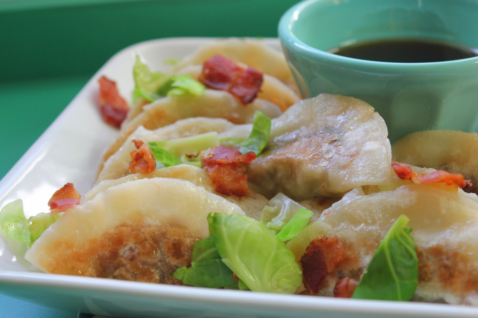 Brussels sprouts and bacon dumplings from Dumplings All Day Wong