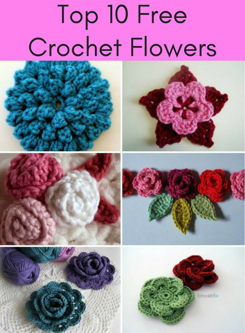 Top 10 Free Crochet Flower Patterns