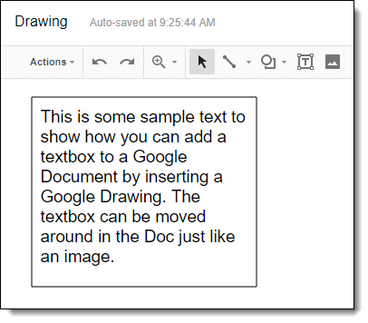 how to put border around text in google docs