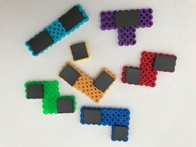 Hama bead Tetris pieces