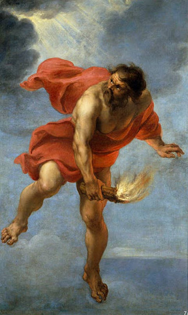Prometheus stealing fire. Jan Cossiers
