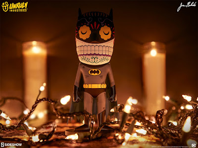 Batman Calavera Vinyl Figures by Jose Pulido x Unruly Industries x DC Comics