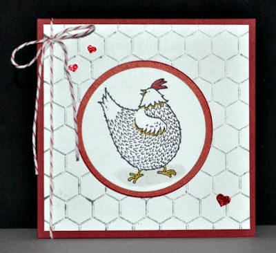 Sale-A-Bration, Hey Chick, Stampin' Up!, Stamp with Trude, Tuesday Tutorial 81, greeting card, chicken