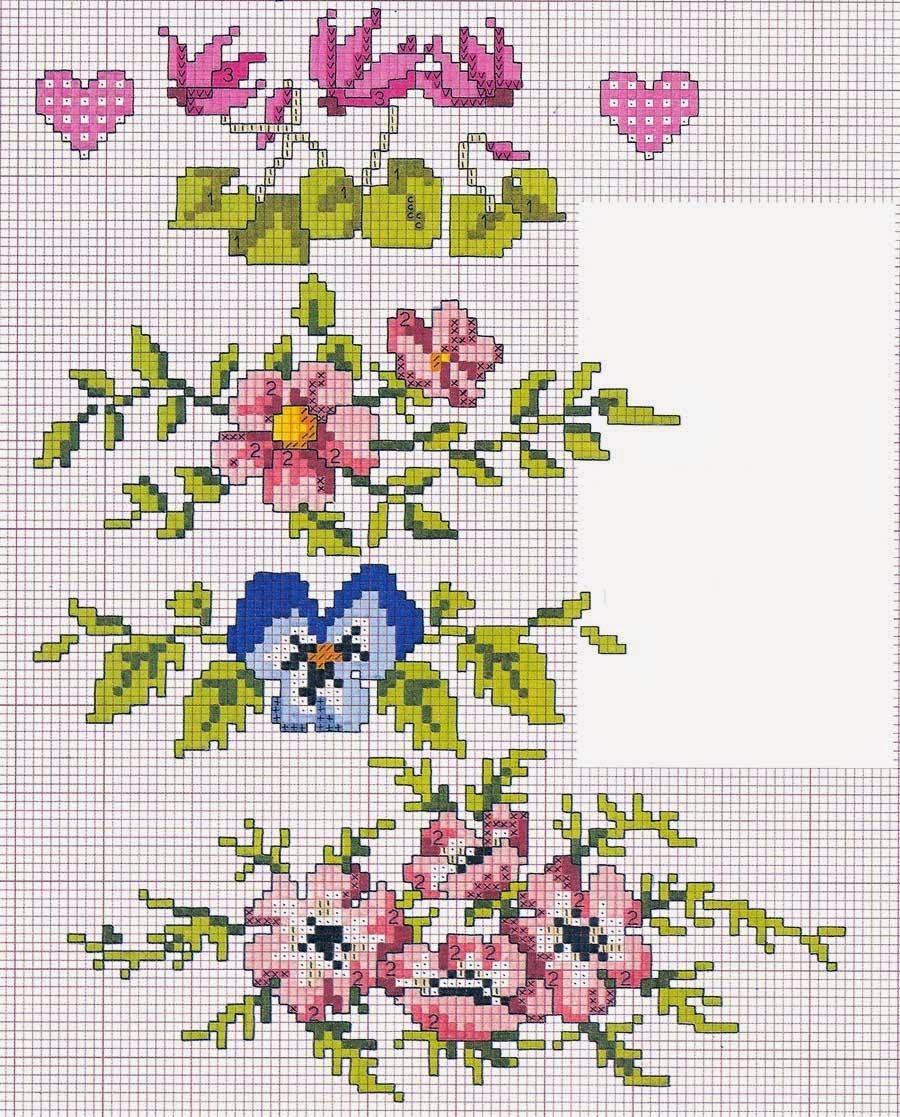 Hobby lavori femminili - ricamo - uncinetto - maglia: schema punto croce bagno 12