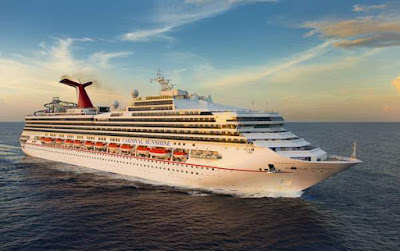 Transformation of the Carnival Triumph, now Carnival Sunrise, has completed in Cadiz Spain.