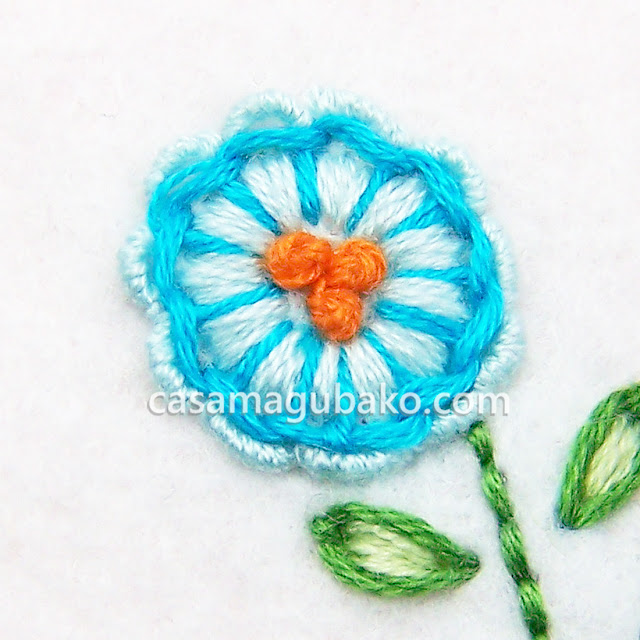 Hand-Embroidered Flower by casamagubako.com